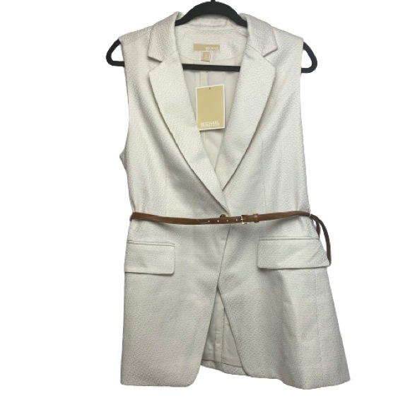 NWT MICHAEL Michael Kors Tailored Vest with Belt